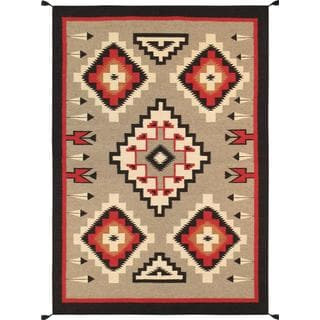 Decorative Hand-woven Wool Area Rug (4' 11 x 7' 2)