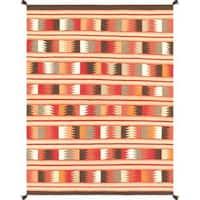 Decorative Hand-woven Wool Area Rug (5'  x 6' 9)