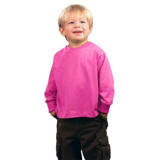 Jersey Boys' Raspberry-colored Cotton Long-Sleeve T-Shirt
