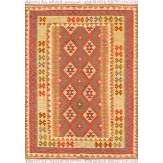 Pasargad Turkish Kilim Hand-woven Area Rug (4' 11 x 6' 10)