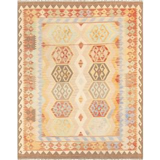 Pasargad Turkish Kilim Hand-woven Ivory Rug (5' 3 x 6' 9)