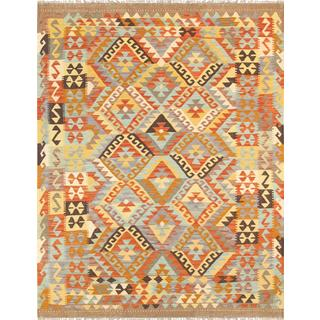 Pasargad Turkish Kilim Hand-woven Multi Color Area Rug (5' 1 x 6' 7)