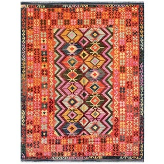 Pasargad Turkish Kilim Multi Color Area Rug (7' 9 x 10' )
