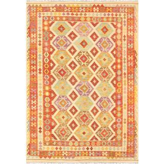 Pasargad Turkish Kilim Hand-woven Area Rug (6' 7 x 9' 9)