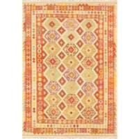Pasargad Turkish Kilim Hand-woven Area Rug (6' 7 x 9' 9) - Multi