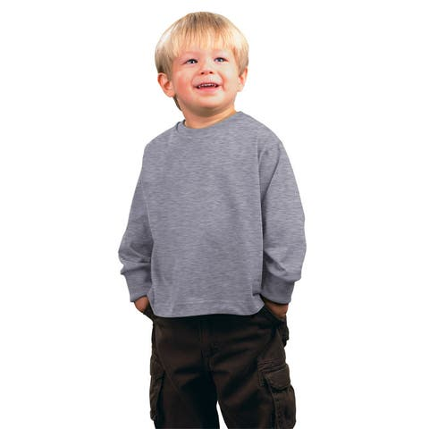 Jersey Boys' Heather Long-sleeved T-shirt