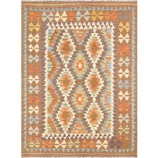 Pasargad Turkish Kilim Hand-woven Multi Color Rug (4' 2 x 5' 9)