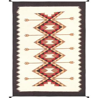 Decorative Hand-woven Wool Area Rug (5' 2 x 6' 10)