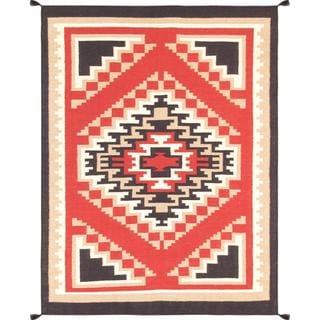 Decorative Hand-woven Wool Area Rug (5' 2 x 6' 10)