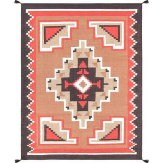 Decorative Hand-woven Wool Area Rug (5' 3 x 7' 1)