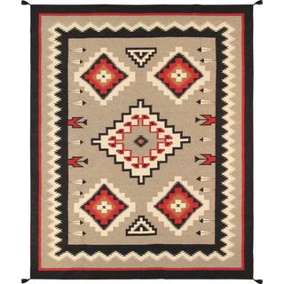 Decorative Hand-woven Wool Area Rug (7' 11 x 10' )