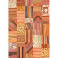 Pasargad Vintage Patchwork Wool Multi Area Rug - 5' 7 x 8' 2