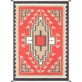 Decorative Hand-woven Wool Area Rug (6' x 8' 10)