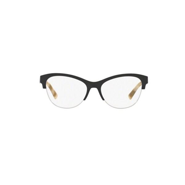 3d3381d63 Shop Burberry BE2235 3600 Black Plastic Cat Eye Eyeglasses w/ 53mm ...