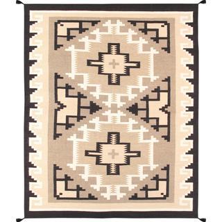 Decorative Hand-woven Wool Area Rug (7' 10 x 9' 9)