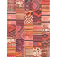 Pasargad Vintage Patchwork Wool Area Rug - Multi