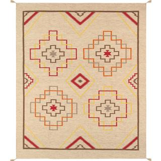 Decorative Hand-woven Wool Area Rug (8' 1 x 9' 11)