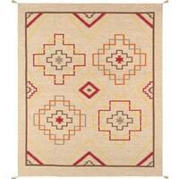 Decorative Hand-woven Wool Area Rug (8' 1 x 9' 11) - Multi