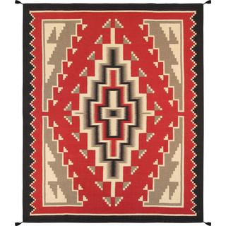 Decorative Hand-woven Wool Area Rug (8' x 10' )