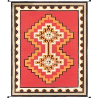 Decorative Hand-woven Wool Area Rug (7' 11 x 10' 1)