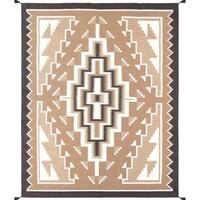 Decorative Hand-woven Wool Area Rug (7' 11 x 10' 1) - Multi