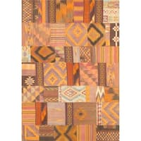 Pasargad Turkish Vintage Patchwork Wool Area Rug - Multi
