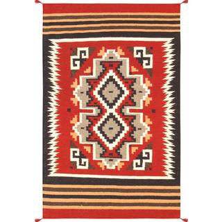 Decorative Hand-woven Wool Area Rug (3' 1 x 5' )