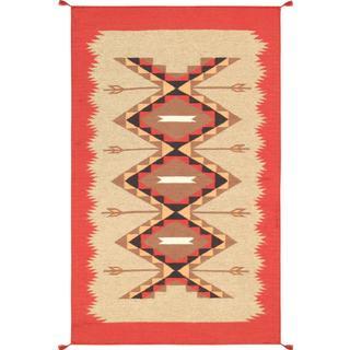 Decorative Hand-woven Wool Area Rug (3' x 5' )