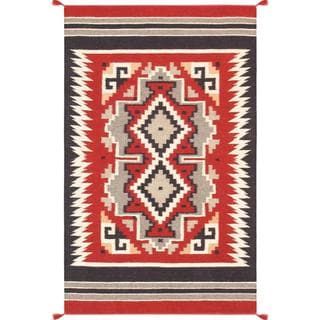 Decorative Hand-woven Wool Area Rug (3' x 4' 11)