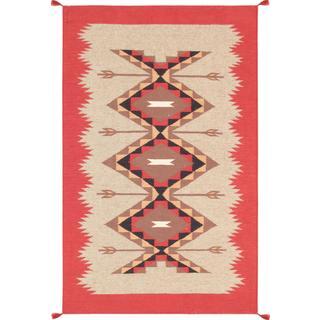 Decorative Hand-woven Wool Area Rug (3' 1 x 5' )