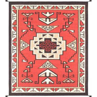 Decorative Hand-woven Wool Area Rug (8' 1 x 9' 10)