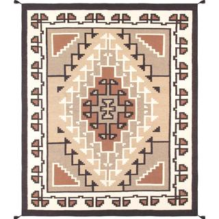 Decorative Hand-woven Wool Area Rug (7' 11 x 9' 10)