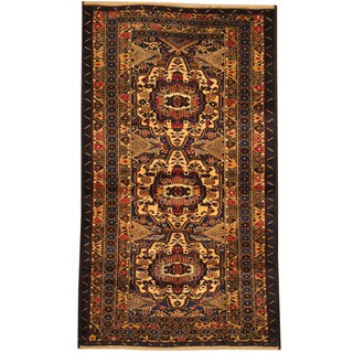 Herat Oriental Afghan Balouchi Hand-knotted Wool Area Rug (3'10 x 6'7)