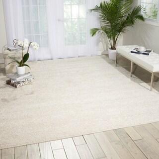 nourison bonita white shag area rug 8u00272 x
