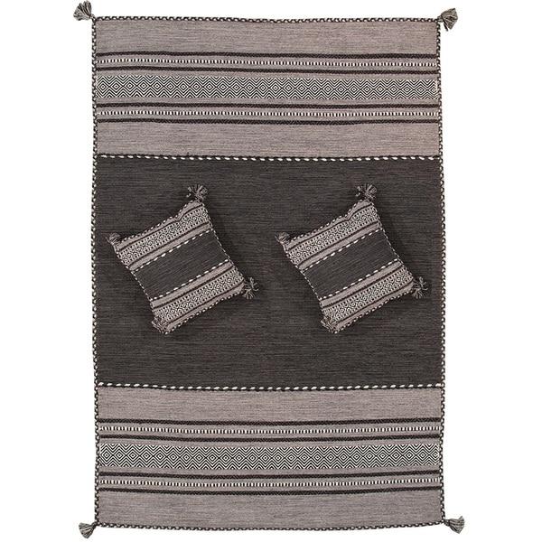Shop Pasargad S Santa Fe Collection Hand Woven Grey Cotton