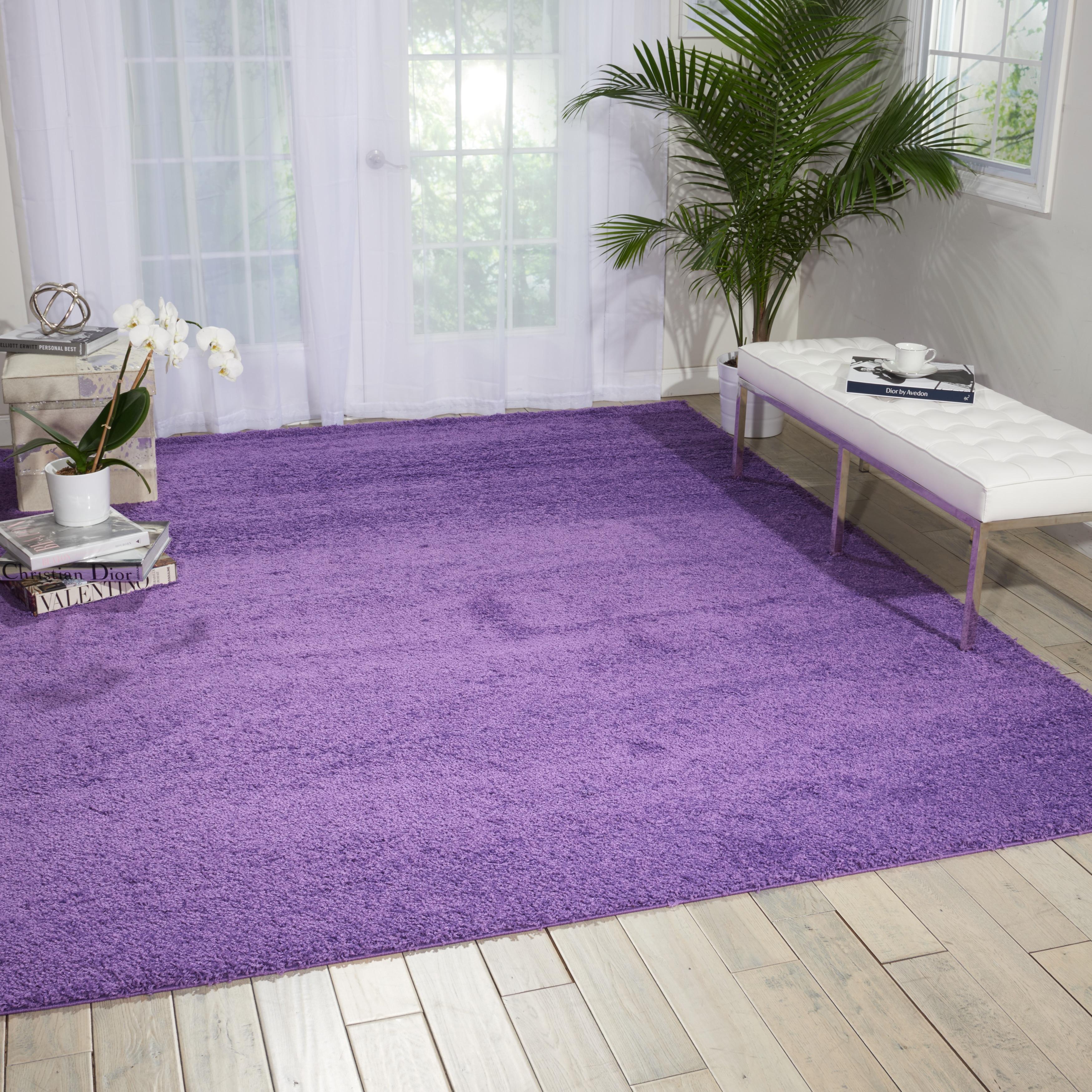 nourison bonita light violet shag area rug 8u00272 x