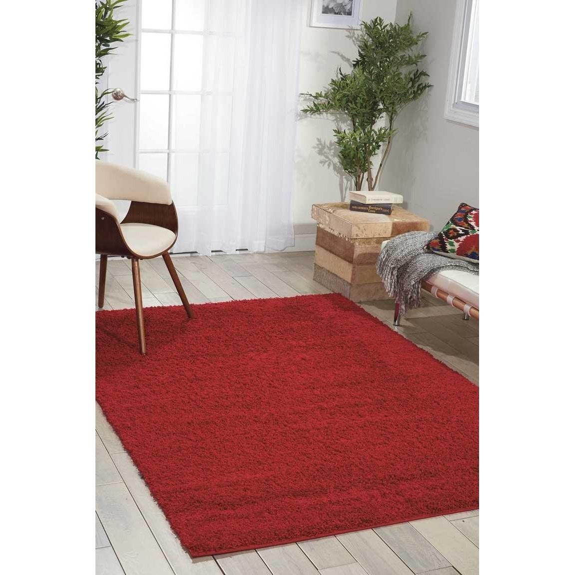 nourison bonita red shag area rug 8u00272 x