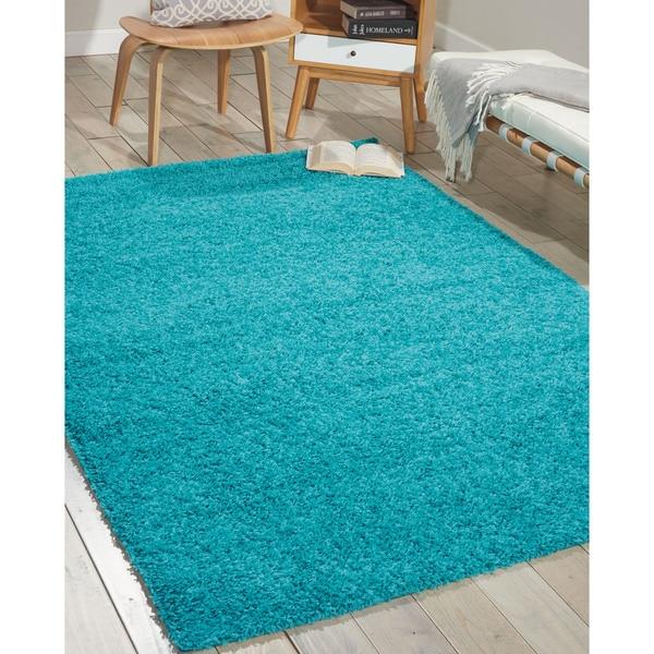 Nourison Bonita Turquoise Shag Area Rug 8 2 X 10 Free
