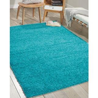 Nourison Bonita Turquoise Shag Area Rug (8'2 x 10')