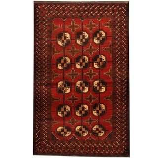 Herat Oriental Afghan Balouchi Hand-knotted Wool Area Rug (4' x 6'2)