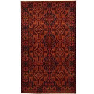 Handmade Herat Oriental Afghan Balouchi Wool Area Rug - 3'10 x 6'4 (Afghanistan)
