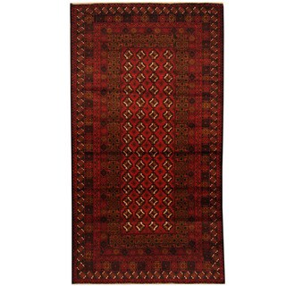 Herat Oriental Afghan Balouchi Hand-knotted Wool Area Rug (3'7 x 6'7)
