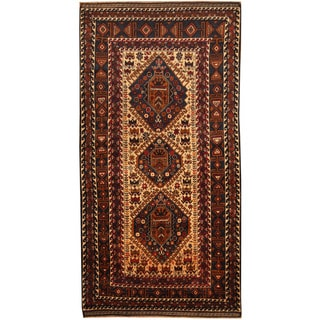 Herat Oriental Afghan Balouchi Hand-knotted Wool Area Rug (3'6 x 6'10)