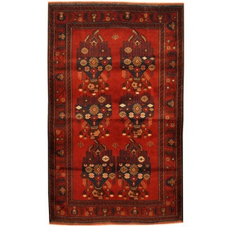 Herat Oriental Afghan Balouchi Hand-knotted Wool Area Rug (4' x 6'6)