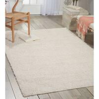 Nourison Bonita White Shag Area Rug (5' x 7')