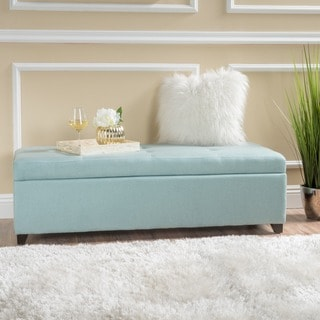 London Fabric Storage Ottoman Bench by Christopher Knight Home