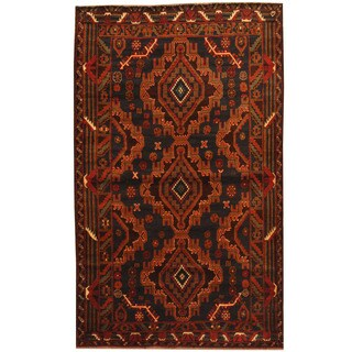 Herat Oriental Afghan Balouchi Hand-knotted Wool Rug (4' x 6'7)
