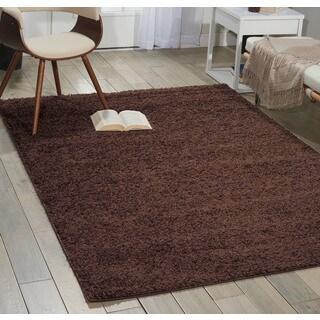 Nourison Bonita Brown Shag Area Rug (5' x 7')