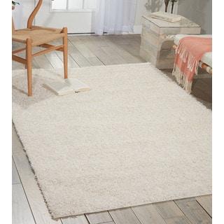 Nourison Bonita White Shag Area Rug (3'2 x 5')