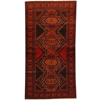 Herat Oriental Afghan Balouchi Hand-knotted Wool Area Rug (3'6 x 6'7)